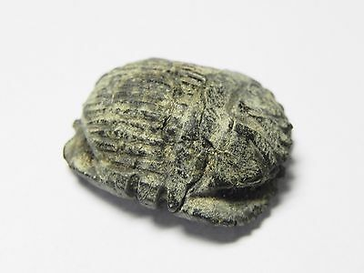 Zurqieh -Af956-  Ancient Egypt - Stone Button Scarab , 664 - 332  B.c