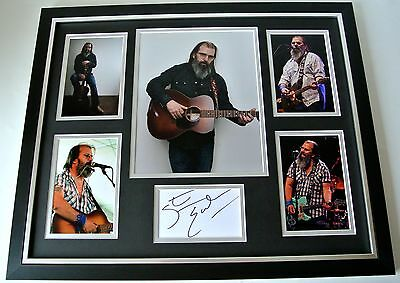 Steve Earle SIGNED FRAMED Huge Photo rare Autograph display Country Music & COA