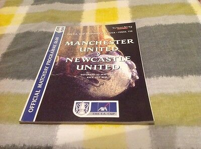 1999 Fa Cup Final Manchester United V Newcastle Programme Great Condition