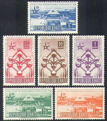 Haiti 1958 EXPO/Exhibition/Buildings/Architecture/Atomium/Commerce 6v (n37336)