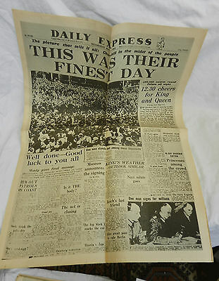 The Daily Express May 9th 1945 - War Ends