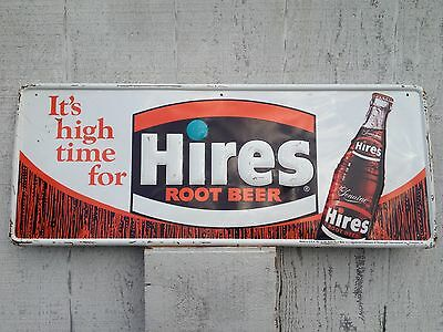 OLD VINTAGE HIRES ROOT BEER SIGN IT'S HIGH TIME FOR HIRES Store Gas Oil Station