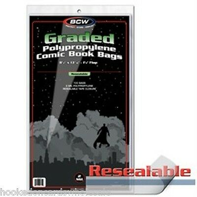 1 pack of 100 BCW Resealable Comic Book Storage Bags for Graded Comics