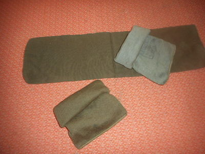 GREAT BRITAIN: X 3  WWII COMMANDO WOOL CAPS or SCARFS COMFORTER