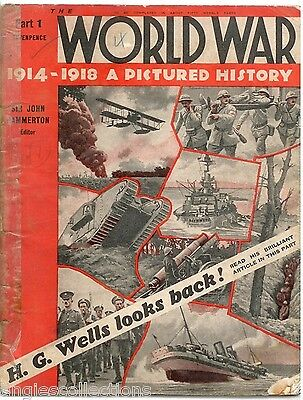 Part 1 World War A Pictured History Magazine 1914-1918 Vintage Collectable Gift
