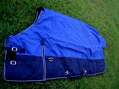 """HORSE WINTER BLANKET 1200D Turnout Water Proof  ROYAL BLUE 82"""""""