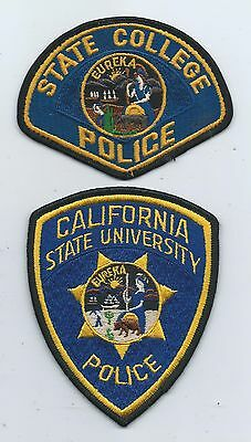 State College & State University P.D. patches- Calif.