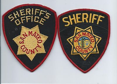 Two generations of San Mateo County Sheriff Office patches- Calif.