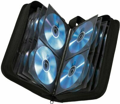120 Sleeve CD DVD Blu Ray Disc Carry Case Holder Bag Wallet Storage Ring Binder