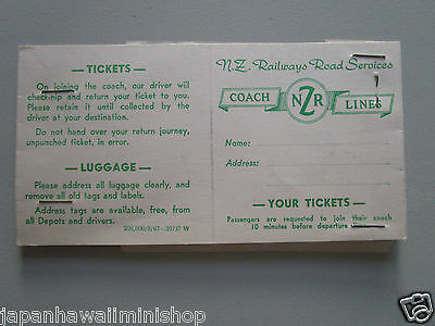 New Zealand Railways Train Seat Reservation Wellington - Frankton (Waikato) 1969
