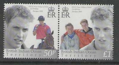 British Indian Ocean Terr Sg286/7 2003 21St Birthday Of Prince William Mnh