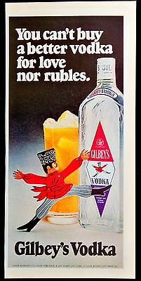 1972 Gilbey's Vodka Magazine Print Ad