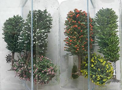 SET OF 8 MODEL TREES 10 to 12 cms ~ SCENERY FOR MODEL RAILWAY HO GAUGE, NEW