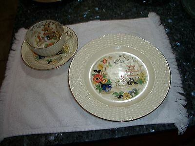 "Vintage Adderley Ware ""Temple"" Set of 6 plates, 6 cups and 6 saucers"