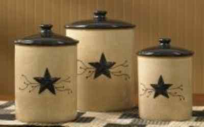 Park Designs Star Vine Canisters Set of 3, Multicolor