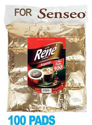 Philips Senseo 100 x Café Rene Regular Coffee Individually Sealed Pads Bags