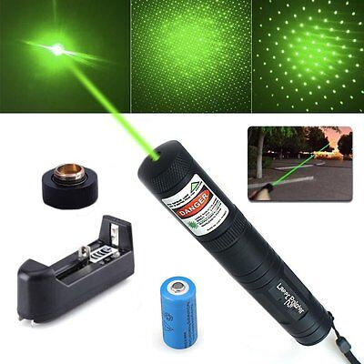 10 Miles 532nm Green 851 Laser Pointer Pen Visible Beam Star Cap Battery Charger