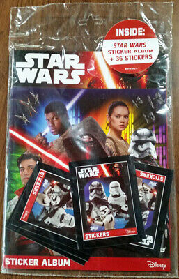 Star Wars the Force Awakens Sticker Album with 36 Stickers