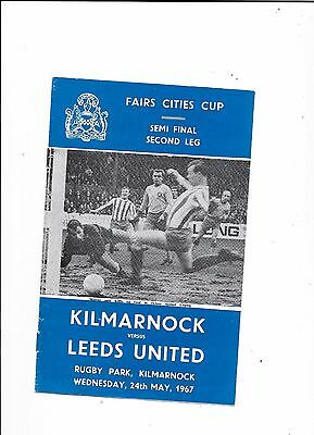 Kilmarnock v Leeds United Inter-Cities Fairs Cup Semi Final 24/5/1967