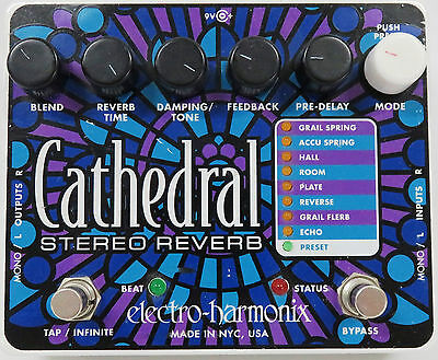 Cathedral Stereo Reverb Electro-Harmonix Guitar Effect Pedal - 87266