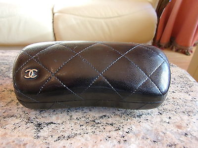 Chanel  Quilted  Sunglasses Glasses Protective Case Box  Genuine  LARGE