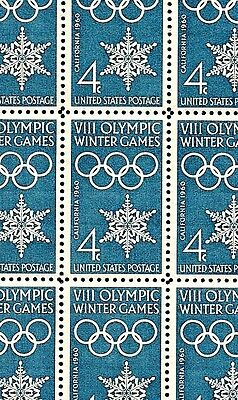 1960 - CALIFORNIA OLYMPICS - #1146 Mint -MNH- Sheet of 50 Postage Stamps