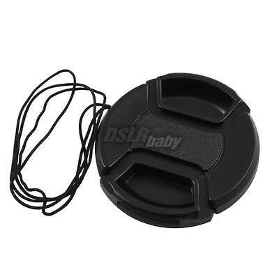 10PCS 52mm DSLR Camera Lens Cap Center Pinch Filter Snap on + String Wholesale