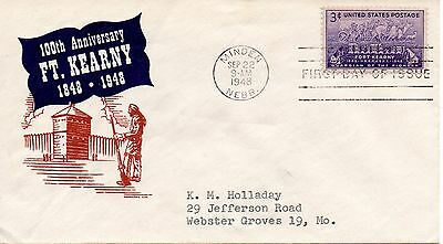US FDC #970 Fort Kearny, (0393)