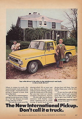 1968 International Harvester Pickup Truck  ~  Rare Smaller Size Print Ad