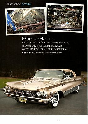 1960 Buick Electra 225  ~  Nice 6-Page Restoration Article (Part 1) Ad