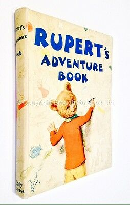 Rupert's Adventure Book 1940 - The Daily Express Alfred Bestall - Unfaded Spine