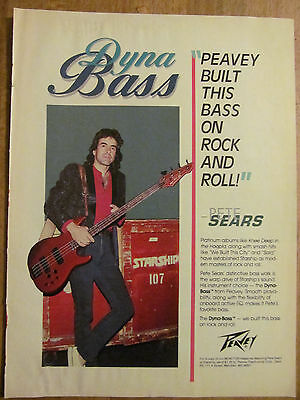 Jefferson Starship, Pete Sears, Full Page Vintage Promotional Ad