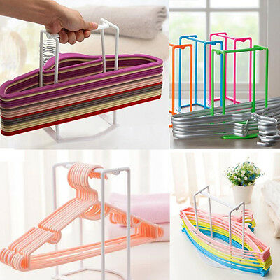 Plastic Hangers Creative Finishing Frame Clothes Hanger Companion Storage Rack