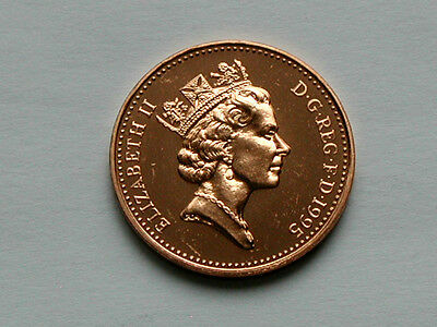 UK (Great Britain) 1995 1 PENNY (1p) Elizabeth II Coin From Mint Set - BU UNC