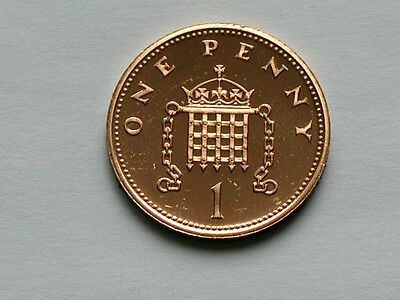 UK (Great Britain) 1985 1 PENNY (1p) Elizabeth II Coin From Proof Set - BU UNC
