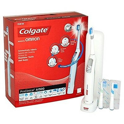 COLGATE ProClinical A1500 Rechargeable Electric Toothbrush by Omron +CASE  NEW