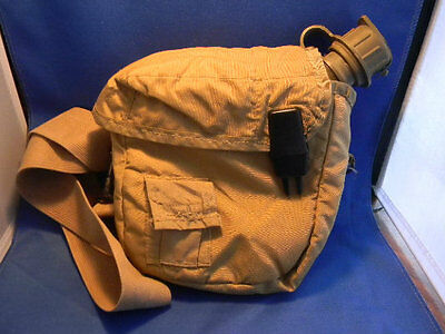 All weather canteen w/ fur lined cover Khaki U.S. Military Desert  2QT bug out