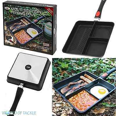 NGT Multi Section Frying Pan 3 Way Carp fishing Tackle Camping Cooking