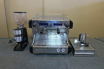 Conti CC100 Compact TC Tall Cup Two Group Commercial Coffee Machine + Grinder