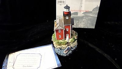 Mispillion Harbour LIghts #302 Deleware - New in Box w Cert of Auth