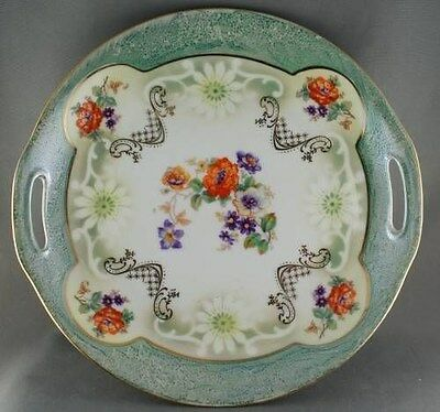 Bavaria Green Floral Cake Plate