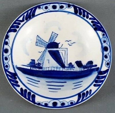 Delft Blue Windmill Hand Painted dish
