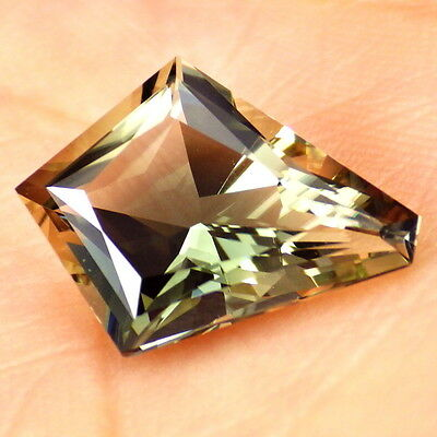 GREEN DICHROIC OREGON SUNSTONE 3.88Ct FLAWLESS-FOR BEAUTIFUL JEWELRY-INVESTMENT