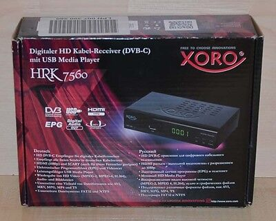 Xoro HRK 7560 digitaler HD Kabel-Receiver~USB~ Media Player~PVR~DVB-C~B-Ware