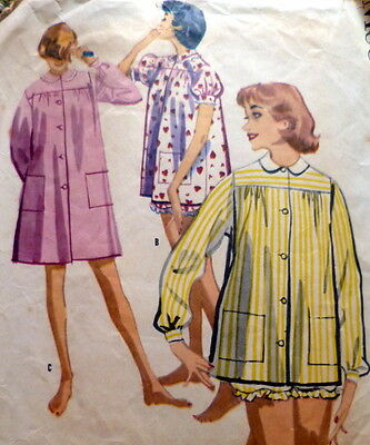 LOVELY VTG 1950s NIGHTGOWN & PAJAMAS Sewing Pattern 14/32