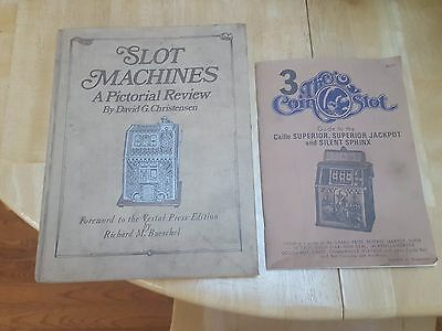 Slot-Machines A Pictorial Review Hardcover book & 3 coin slot guide