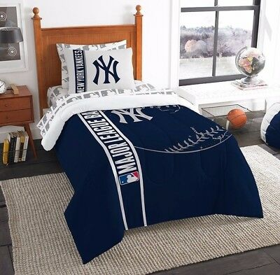 5pcs MLB New York Yankees Bed in a Bag Comforter & Sheet Set, Twin Size