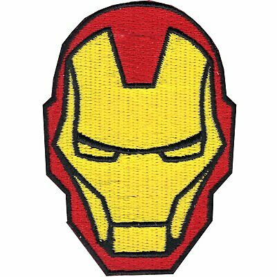 Official Marvel Comics The Avengers Iron Man Helmet Iron on Applique Patch