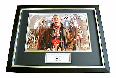 John Hurt Hand Signed & Framed Autograph Photo Mount Display Doctor Who Gift Coa