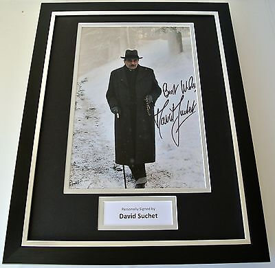 David Suchet SIGNED FRAMED Photo Autograph 16x12 display Hercule Poirot TV & COA